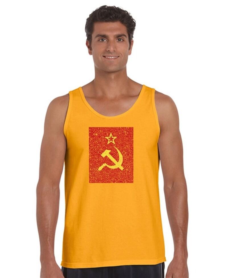 Men's Tank Top - Lyrics to the Soviet National Anthem