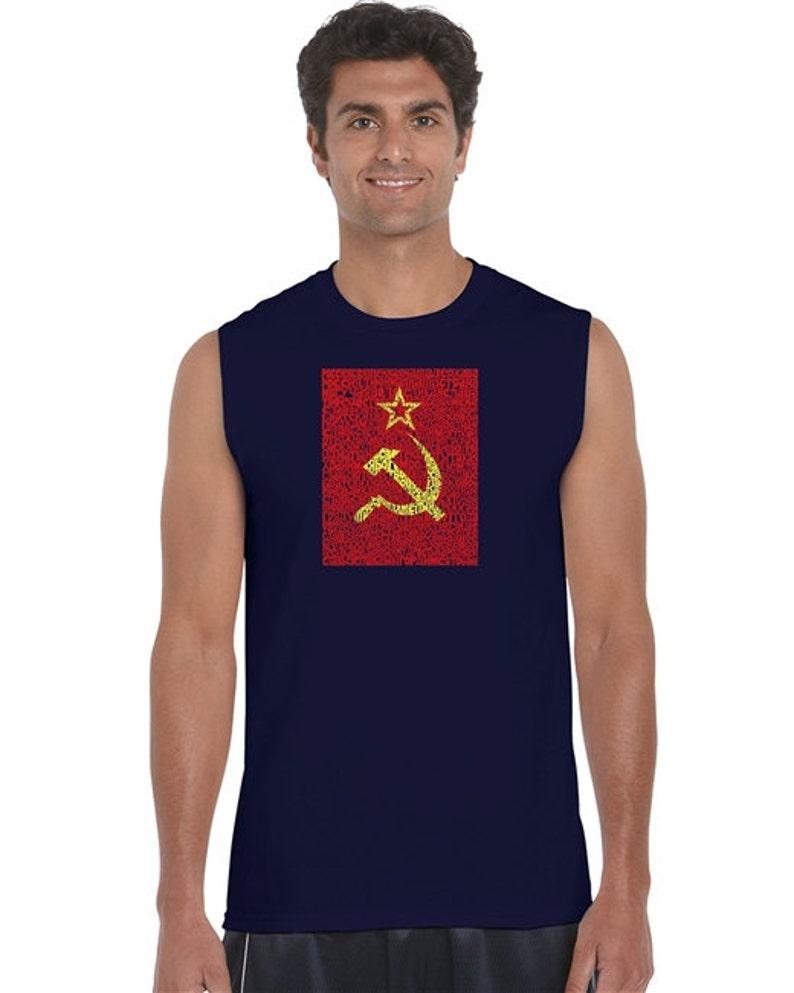 Men's Sleeveless Shirt - Lyrics to the Soviet National Anthem