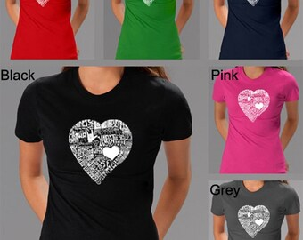 Women's T-shirt - Created using the word Love in 44 Different Languages