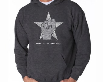 Men's Hooded Sweatshirt - Steve Jobs - Here's to The Crazy One's