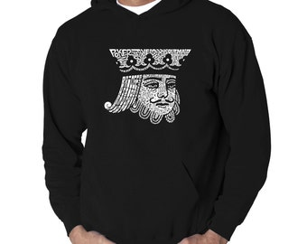 Men's Hooded Sweatshirt - King of Spades Created out of Popular Card Games