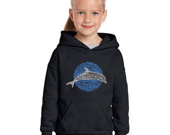 Girl's Hooded Sweatshirt - Species of Dolphin Created out of Popular Dolphin Species