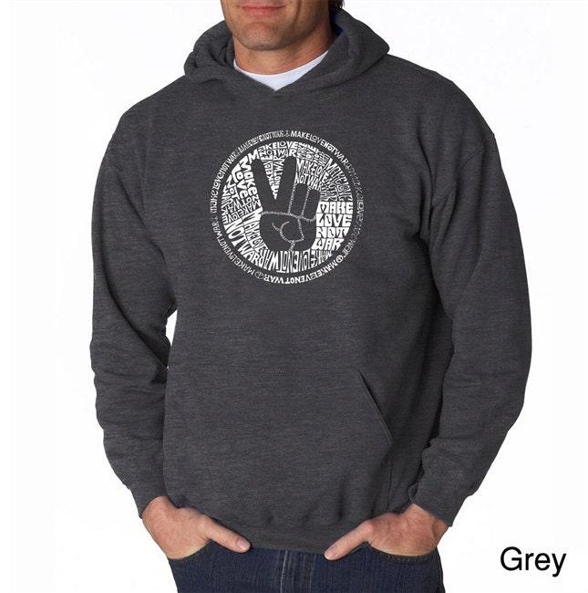 1960s – 70s Men's Ties | Skinny Ties, Slim Ties Mens Hooded Sweatshirt - Created Using The Words Make Love Not War $39.99 AT vintagedancer.com