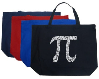 Large Tote Bag - Created using The First 100 Digits of Pi