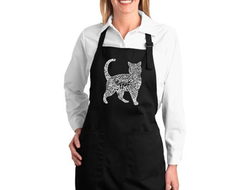 Full Length Apron - Cat Created out of cat themed words