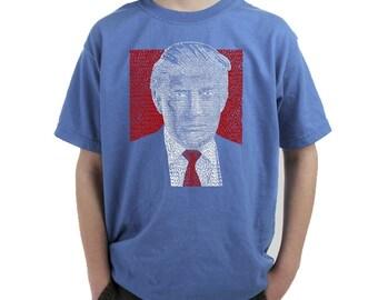 Boy's T-shirt -Trump 2016 - Make America Great Again
