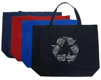 Large Tote Bag - Created using 86 Recyclable Products