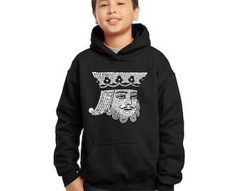 Boy's Hooded Sweatshirt - King of Spades Created out of Popular Card Games