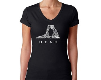 Women's V-neck T-Shirt - UTAH