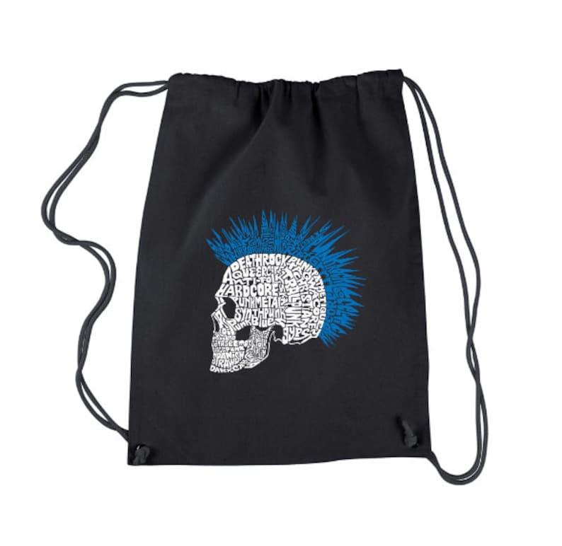 LA Pop Art Drawstring Backpack Punk Mohawk