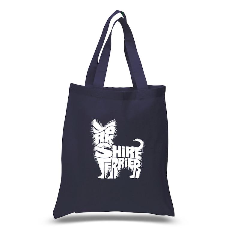 Small Tote Bag Yorkie Created using the words \u201cYorkshire Terrier\u201d