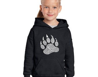 Girl's Hooded Sweatshirt - Types of Bears Created Using Different Species of Bears