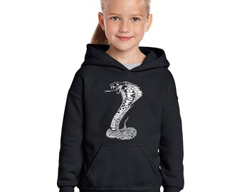 Girl's Hooded Sweatshirt - Tyles of Snakes Created out of the World Most Popular Snake Species