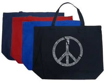 Large Tote Bag - Every Major World Conflict Since 1770 - Created using every major world war since 1700
