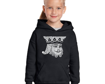 Girl's Hooded Sweatshirt - King of Spades Created out of Popular Card Games