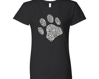 Women's V-neck T-Shirt - Dog Paw