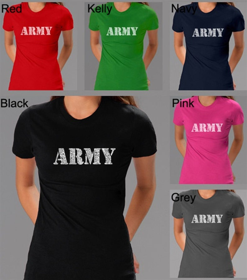 Women's T-shirt - Army Text, Created Using The Lyrics To The Army Song