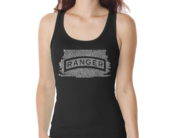 Women's Beater Tank Top - The US Ranger Creed Created using The Ranger Creed
