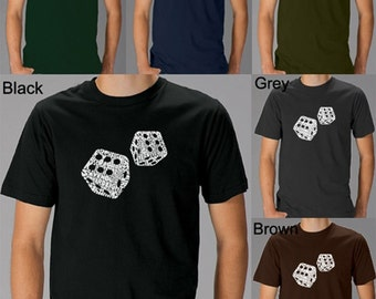 Men's T-shirt - Created using Different rolls thrown in the game of Craps