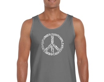 Men's Tank Top - The Word Peace In 20 Languages