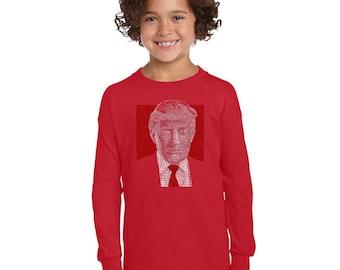 Girl's Long Sleeve T-Shirt - Trump 2016 - Make America Great Again