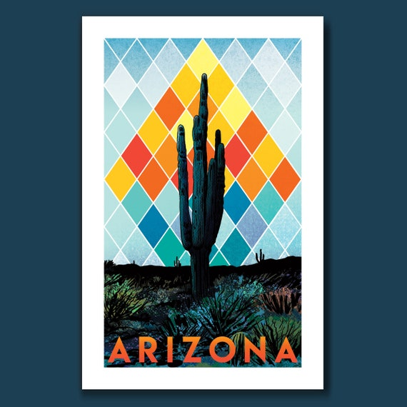 SAGUARO SUPERIOR - ARIZONA Edition - 11x17 Art Print by Rob Ozborne