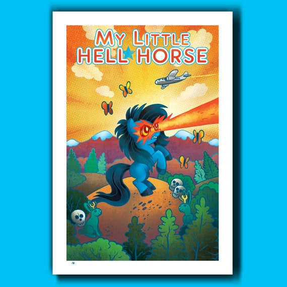 My Little HELL HORSE Limited Edition 13x19 Art Print by Rob Ozborne