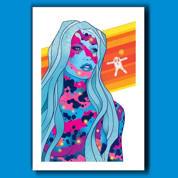 ASTROGIRL #2 - Summer Girls - 13x19 Art Print by Rob Ozborne