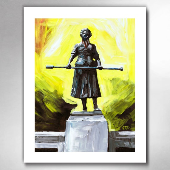 MOLLY PITCHER - American Painting Art Print by Rob Ozborne