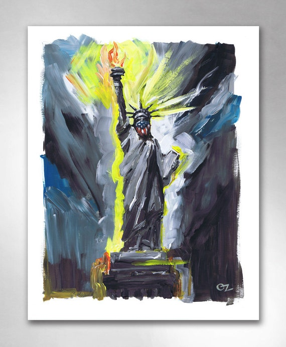 LIBERTY OUTLAW Limited Edition American Art Print 11x14 by Rob Ozborne