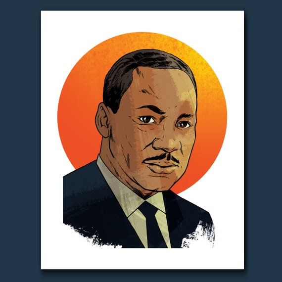 MARTIN LUTHER KING Jr American Pop Art Print by Rob Ozborne