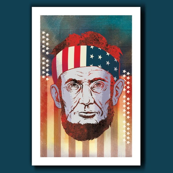 ABE LINCOLN Be Free 13x19 Art Print by Rob Ozborne