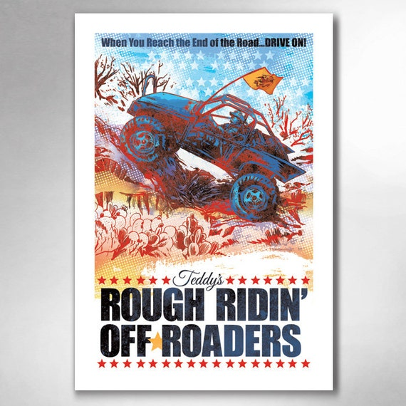 Teddys Rough Ridin Off-Roaders 13x19 Art Print by Rob Ozborne