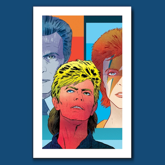 DAVID BOWIE - Rock Pop Musical Artist - Tribute Art Print 11x17 by Rob Ozborne