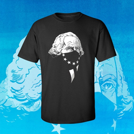 GEORGE WASHINGTON Original Gangsta - Men's Fitted Graphic T-Shirt by Rob Ozborne - Merry Christmas