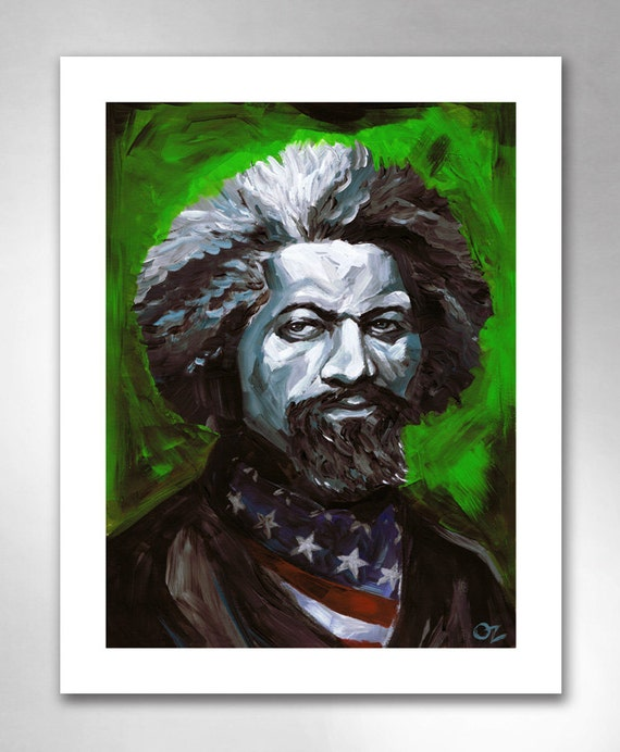 FREDERICK DOUGLASS From Slavery To Freedom American Art Print 11x14 by Rob Ozborne
