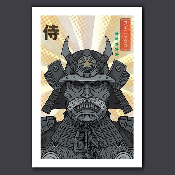 Phoenix Samurai - Rise of the Samurai - 13x19 Art Print by Rob Ozborne