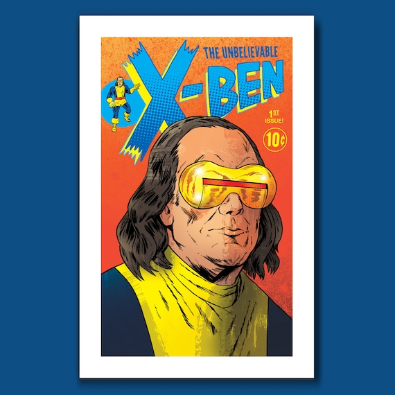 X-BEN - Ben Franklin Cyclops - BF Pop Series 11x17 Limited Edition Art Print by Rob Ozborne