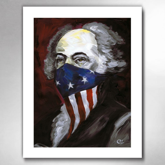 JOHN ADAMS - Revolutionary Outlaw - American Painting Art Print by Rob Ozborne