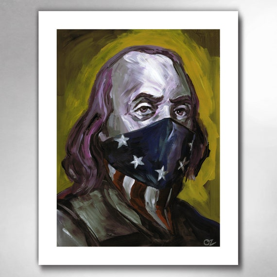 BEN FRANKLIN - Bad Boy for Life - American Art Print by Rob Ozborne
