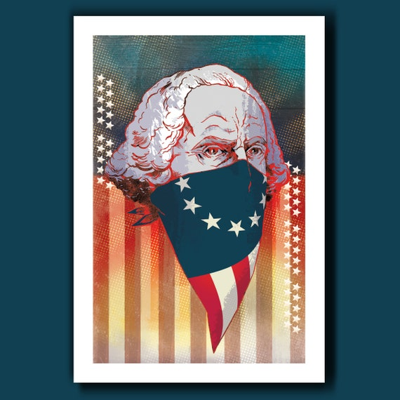 GEORGE WASHINGTON Revolution 13x19 Art Print by Rob Ozborne