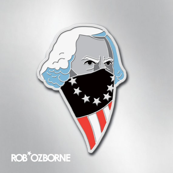 GEORGE WASHINGTON Enamel Pin - American USA Freedom Pin - Collectible Art Pin by Rob Ozborne