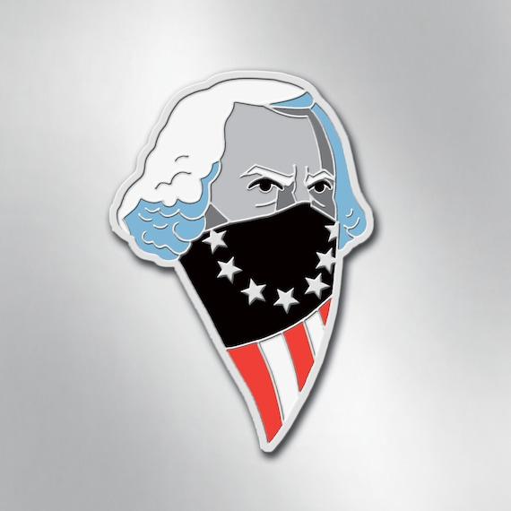 GEORGE WASHINGTON Enamel Pin - American USA Freedom Pin - Collectible Art Pin by Rob Ozborne