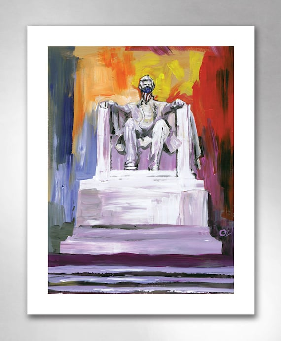 LINCOLN MEMORIAL OUTLAWED American Art Print 11x14 by Rob Ozborne