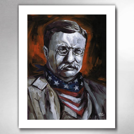TEDDY ROOSEVELT - Take No Guff - American Painting Art Print 11x14 by Rob Ozborne