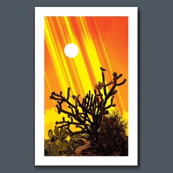SEPTEMBER SUN - Southwestern Desert - 11x17 Art Print by Rob Ozborne