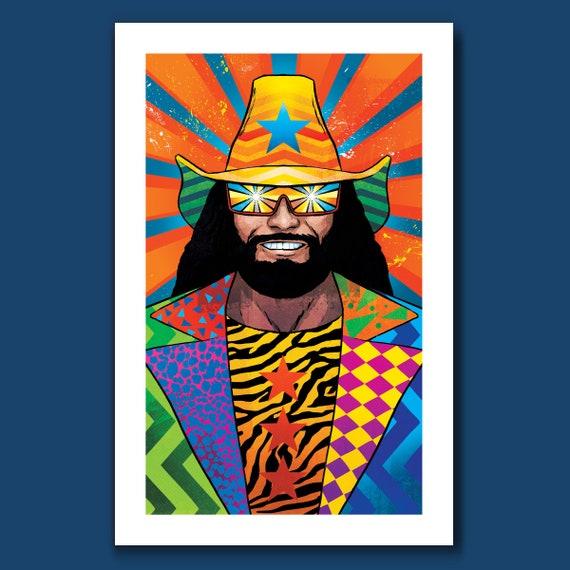 MACHO MAN Randy Savage - The Showman - Wrestling Art Print 11x17 by Rob Ozborne