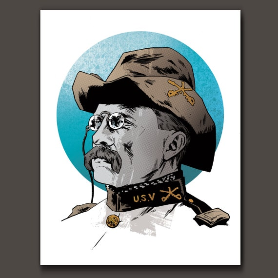 TEDDY ROOSEVELT Rough Rider Art Print by Rob Ozborne