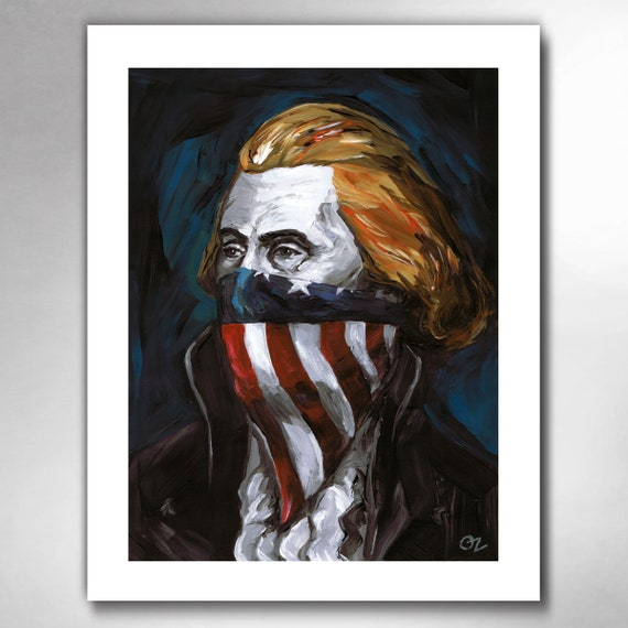 THOMAS JEFFERSON - Revolutionary Writer - American Painting Art Print by Rob Ozborne