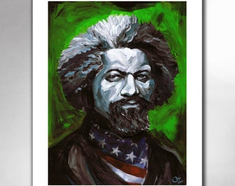 FREDERICK DOUGLASS - From Slavery To Freedom - American Painting Art Print by Rob Ozborne